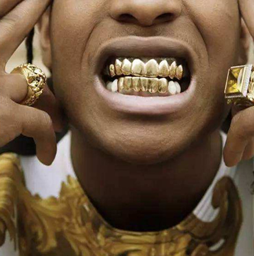 Gold Grillz 24K Plated Teeth Mouth Grills Bling Hip Hop Gangsta Gangster c18ff96b1046