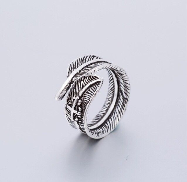 Wrap Around Sterling Silver Feather Ring