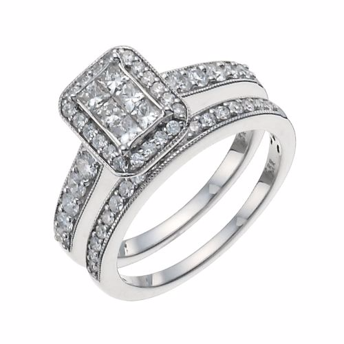 Wedding Engagement Sterling Silver Cubic Zirconia Bridal