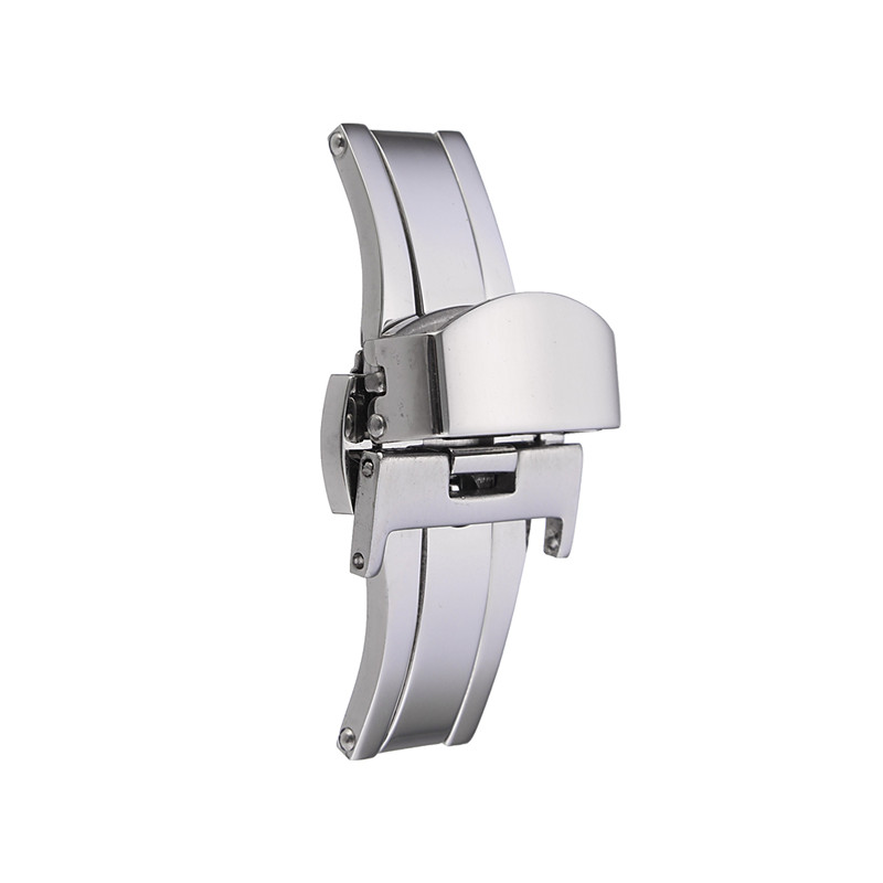 sale retailer 0475b 77498 Stainless Steel Watch deployment buckle butterfly clasp strap 18mm 20mm 22mm  UK
